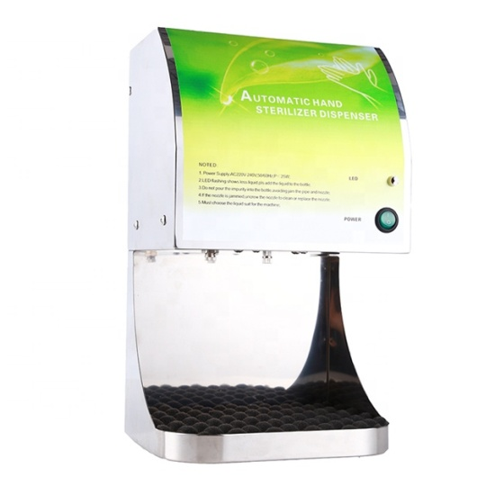 Completely Atomization Effect Simple Operation Stainless Steel Hand Sanitizer Dispenser