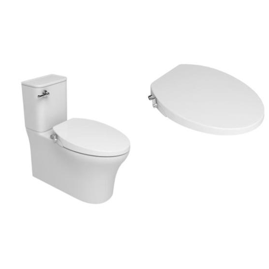 US elongated style one piece design manual toilet bidet seat TB-106