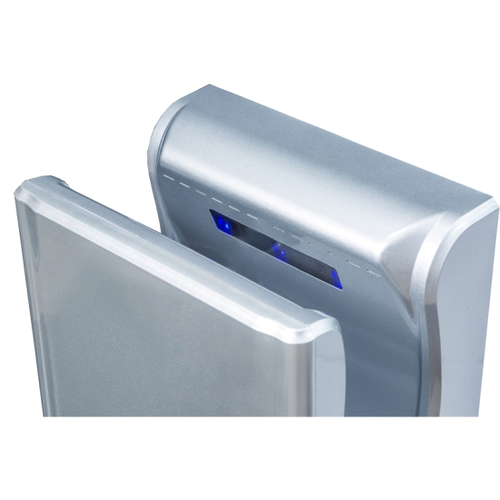 Blue Dry Eco fast blade hand dryer with HEPA filter and UV light, adjustable airspeed and temperature